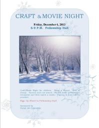 craft & movie night