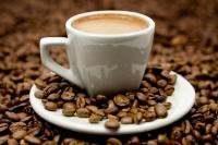 Espresso on Coffe Beans