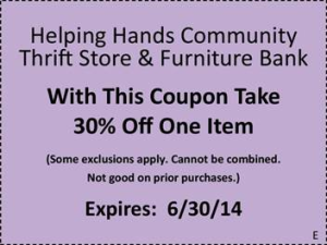 helping hands coupon