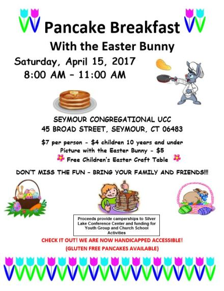 easter bunny breakfast 2017